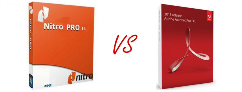 Nitro PDF Vs. Adobe Acrobat Std – Which is Best?